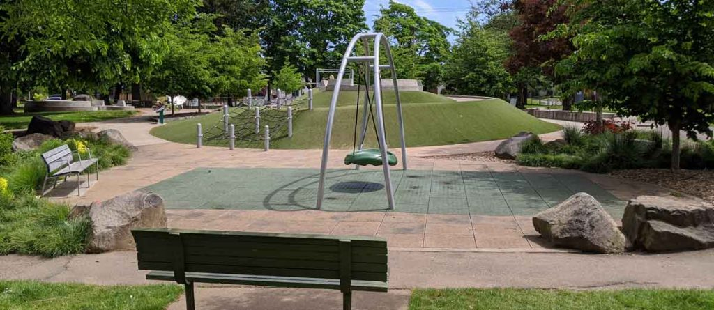 Accessible playground at Arbor Lodge Park