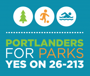 Portlanders for Parks Yes on 26-213 poster